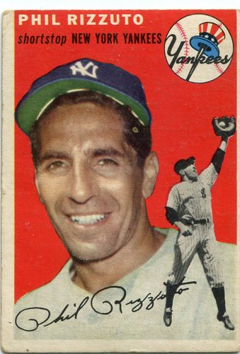 Photo of 1954 Topps #17 Phil Rizzuto -- Yankees Hall of Famer