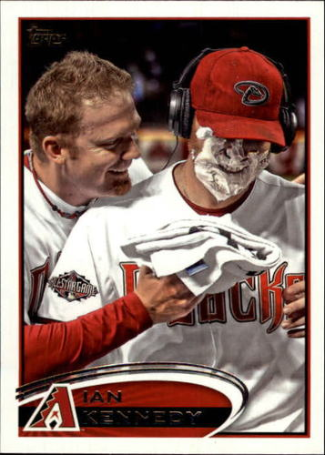 Photo of 2012 Topps #76B Ian Kennedy VAR SP/Pie in the face