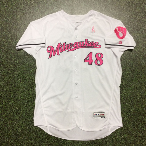Photo of Jared Hughes 2017 Mother's Day Tribute Game-Used Jersey