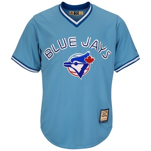 Toronto Blue Jays Cool Base Cooperstown Replica Jersey Lt.Blue by Majestic