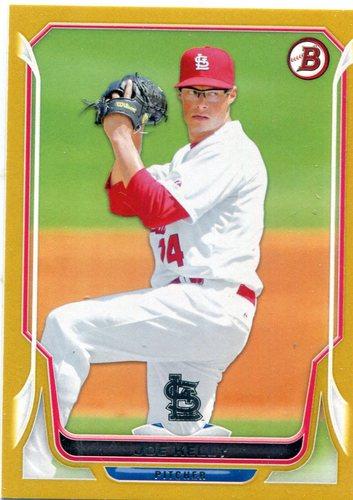 Photo of 2014 Bowman Gold #113 Joe Kelly 46/50 -- Red Sox post-season