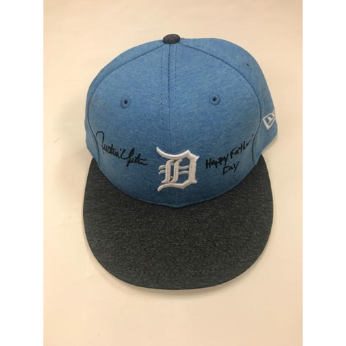 Autographed Game-Used 2017 Justin Upton Father's Day Cap