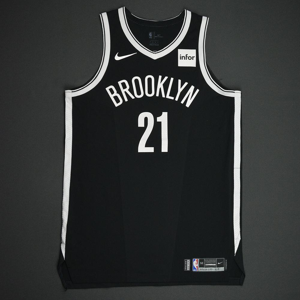 Jacob Wiley - Brooklyn Nets - NBA Mexico City Games 2017 Game-Worn Jersey
