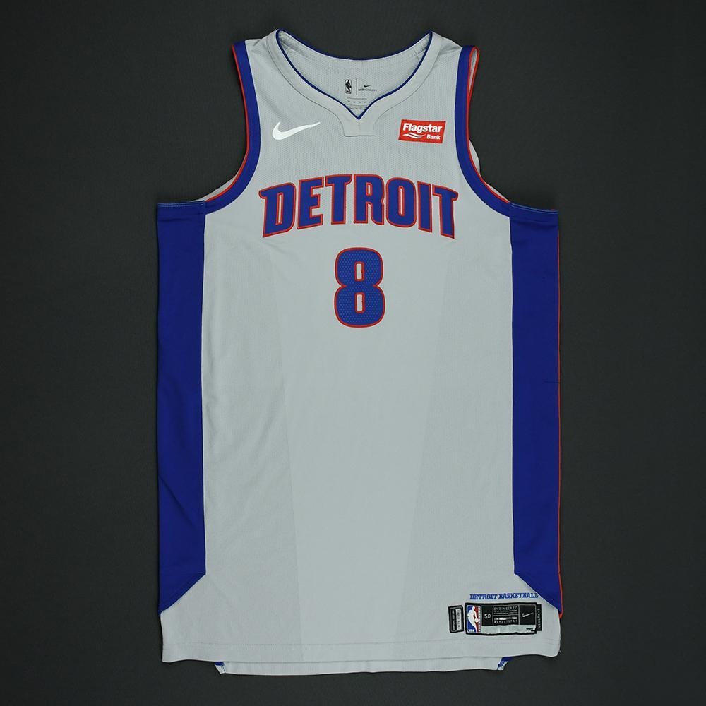 Henry Ellenson - Detroit Pistons - Statement Game-Worn Jersey  - 2017-18 Season