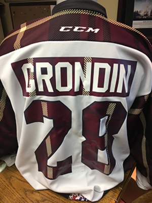 Max Grondin (#28) - Game-Worn #PetesPlaidNight Jersey