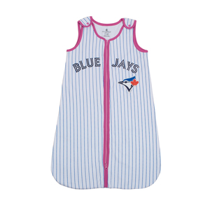 Toronto Blue Jays Newborn Infant Pinstripe Sleep Bag Pink by Snugabye