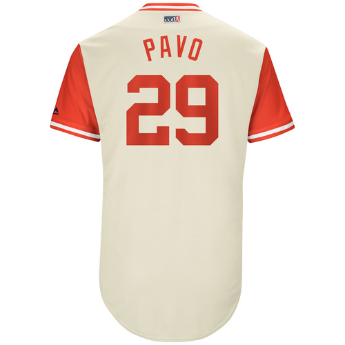 "Photo of Cameron ""Pavo"" Rupp Philadelphia Phillies Game-Used Players Weekend Jersey"