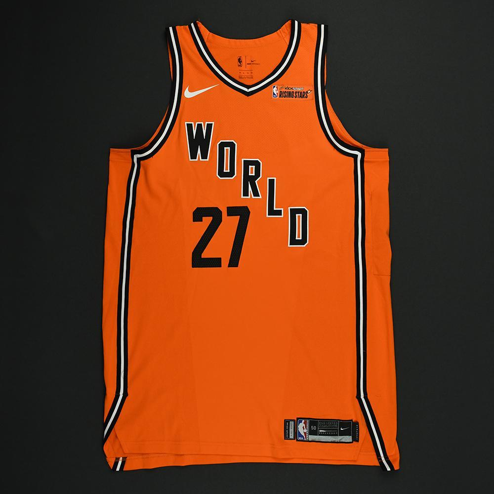 Jamal Murray - 2018 Mtn Dew Kickstart Rising Stars - Team World - Game-Worn Jersey - 1st Half Only