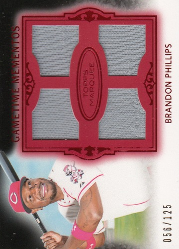 Photo of 2011 Topps Marquee Gametime Mementos Quad Relics Red #GMQR31 Brandon Phillips/125