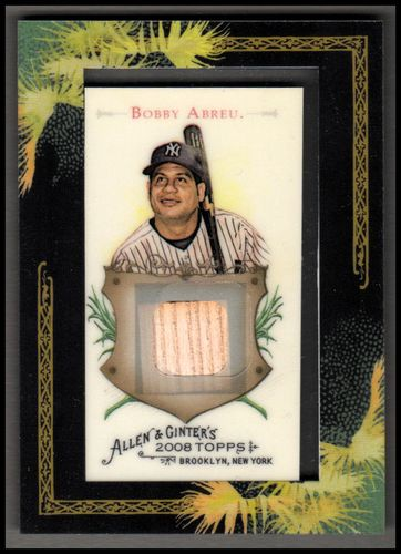 Photo of 2008 Topps Allen and Ginter Relics #BA Bobby Abreu Bat B