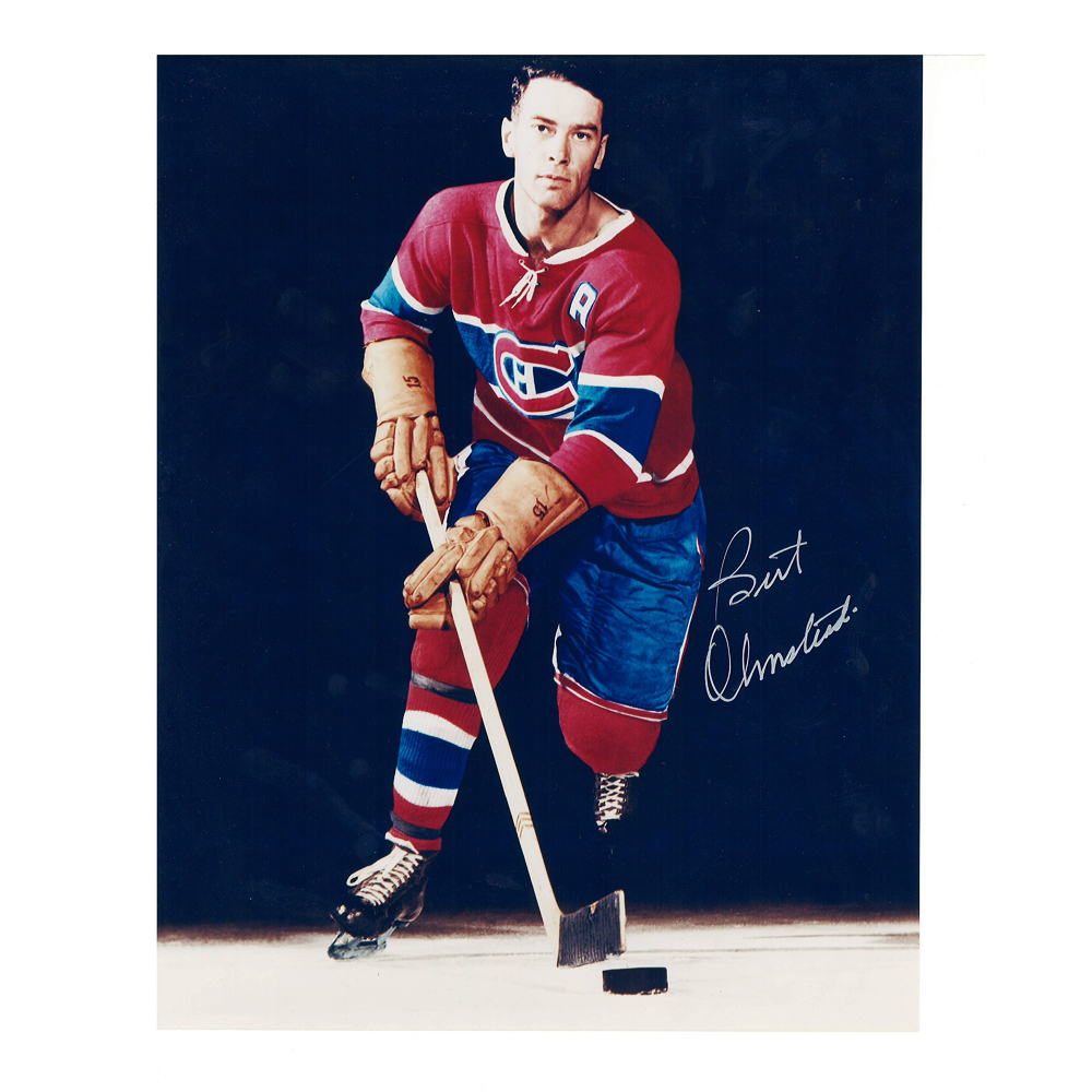 BERT OLMSTEAD Signed Montreal Canadiens 8 X 10 Photo - 70067