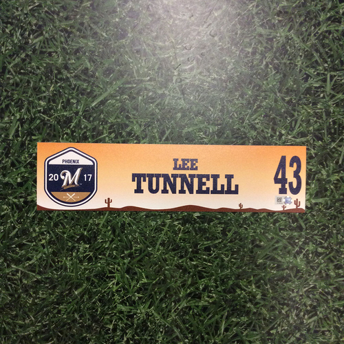 Photo of Lee Tunnell 2017 Spring Training Locker Nameplate
