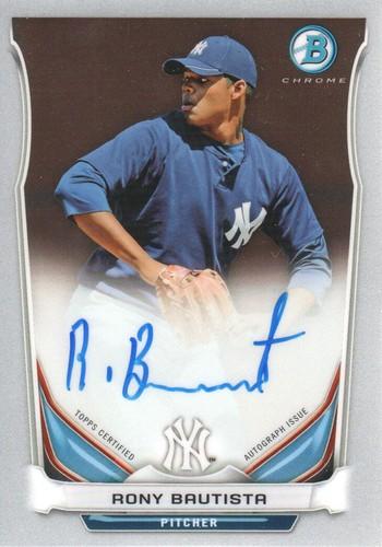 Photo of 2014 Bowman Chrome Prospect Autographs #BCAPRB Rony Bautista