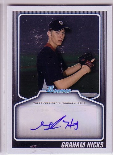 Photo of 2010 Bowman Draft Prospect Autographs #GH Graham Hicks
