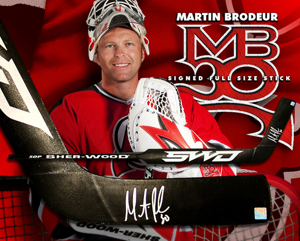 MARTIN BRODEUR Signed Sher-Wood Goalie Stick - New Jersey Devils