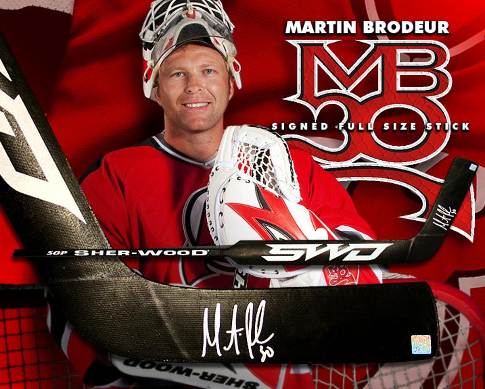 MARTIN BRODEUR Signed Sher-Wood Goalie Stick - New Jersey Devils