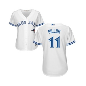 Toronto Blue Jays Women's Cool Base Replica Kevin Pillar Home Jersey by Majestic