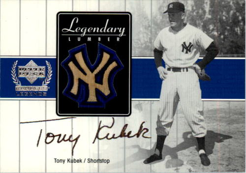 Photo of 2000 Upper Deck Yankees Legends Legendary Lumber #TKLL Tony Kubek