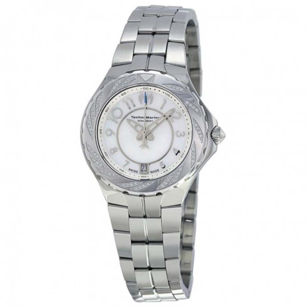 New TechnoMarine 713004 Sea Pearl White Dial Stainless Steel Ladies Watch