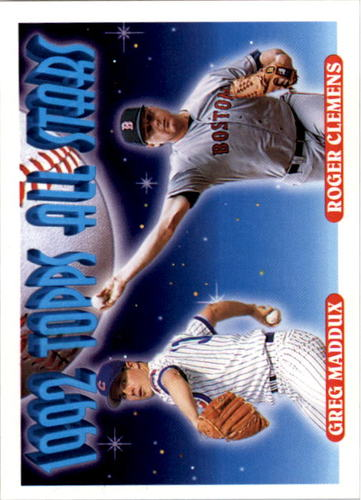 Photo of 1993 Topps #409 Greg Maddux/Roger Clemens AS