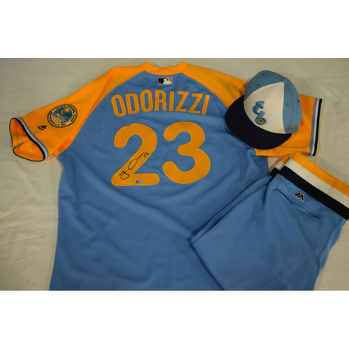 Photo of Autographed Turn Back the Clock Jersey, Hat and Pants: Jake Odorizzi