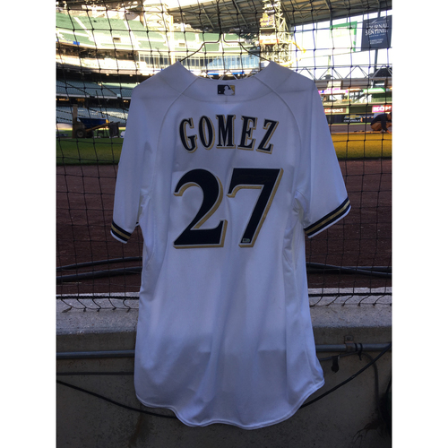 2014 Carlos Gomez Signed Jersey