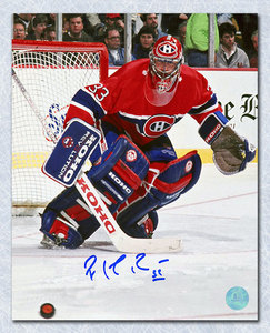 Patrick Roy Montreal Canadiens Autographed Goal Defence 8x10 Photo