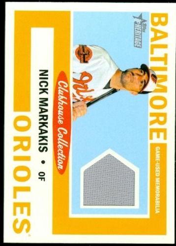 Photo of 2013 Topps Heritage Clubhouse Collection Relics #NM Nick Markakis