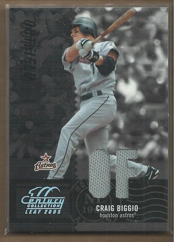 Photo of 2005 Leaf Century Material Fabric Position #98 Craig Biggio Jsy/250