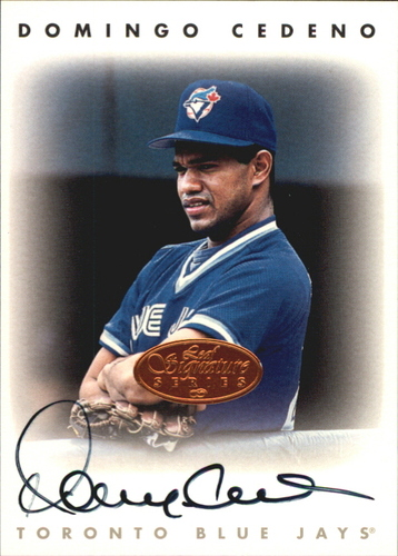 Photo of 1996 Leaf Signature Autographs #42 Domingo Cedeno