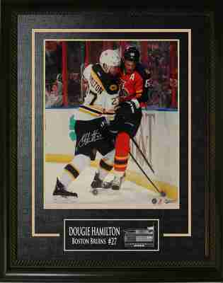 Dougie Hamilton Signed 16x20 Vertical Action