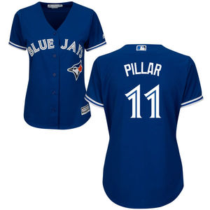 Toronto Blue Jays Women's Cool Base Replica Kevin Pillar Alternate Jersey by Majestic
