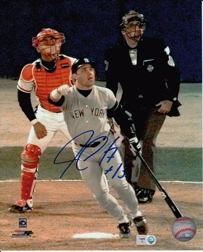"Photo of Jim Leyritz ""96 WS Game 4"" Autographed 8x10"