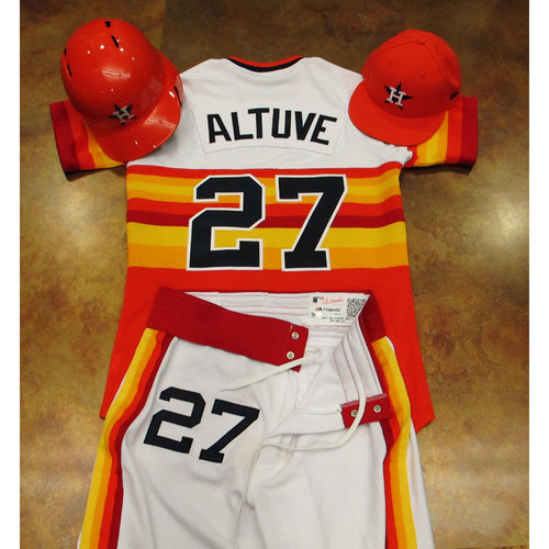 Photo of Jose Altuve Astros Game-Used Turn Back The Clock Uniform 6/24/17