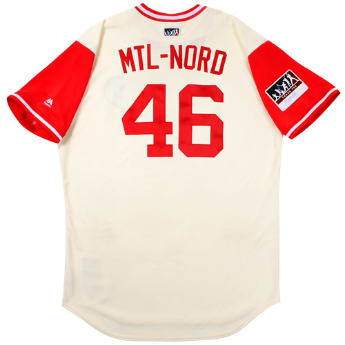 "Photo of Jesen ""MTL-Nord"" Therrien Philadelphia Phillies Game-Used Players Weekend Jersey"