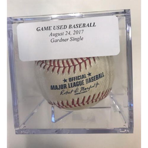 Game-Used Baseball: Brett Gardner Single