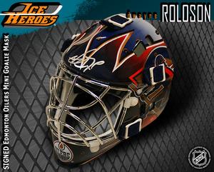 DWAYNE ROLOSON Signed Edmonton Oilers Mini Mask
