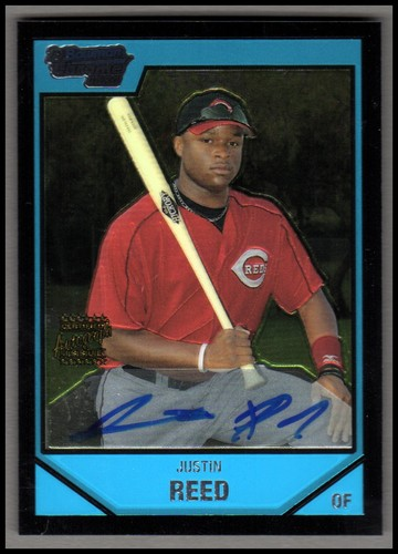 Photo of 2007 Bowman Chrome Prospects #BC229 Justin Reed AU