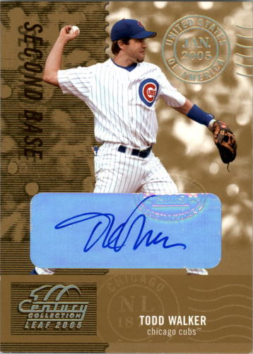 Photo of 2005 Leaf Century Signature Post Marks Gold #189 Todd Walker/25
