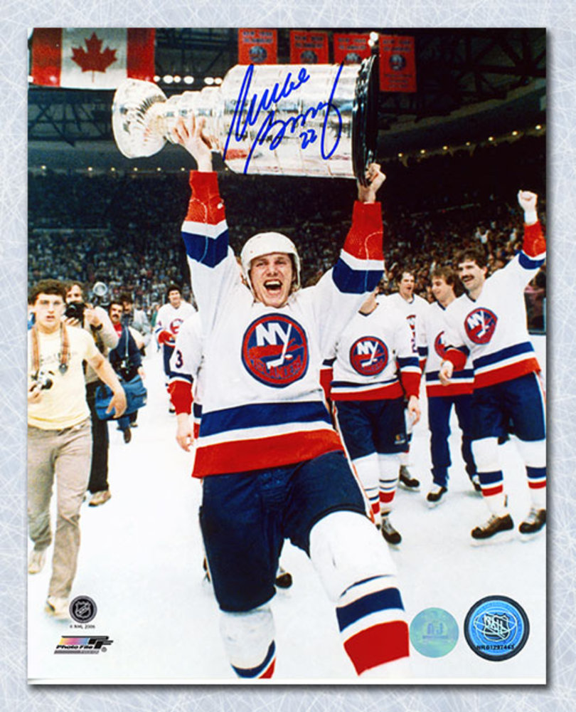 Mike Bossy New York Islanders Autographed Stanley Cup 8x10 Photo