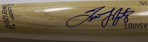 Photo of Tino Martinez Autographed Louisville Slugger Bat