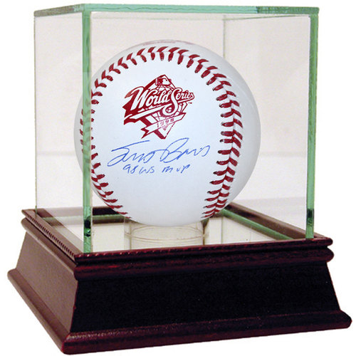 """Photo of Scott Brosius Autographed 1998 WS Baseball w/ Insc. """"98 WS MVP"""" - Case Not Included"""