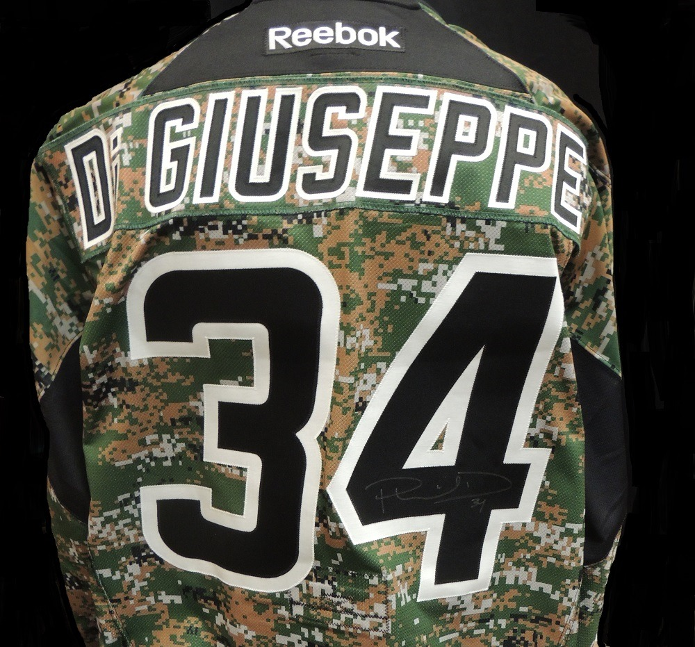 Carolina Hurricanes Phil Di Giuseppe #34 Military Appreciation Jersey