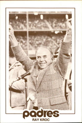 Photo of 1977 Padres Schedule Cards #35 Ray Kroc