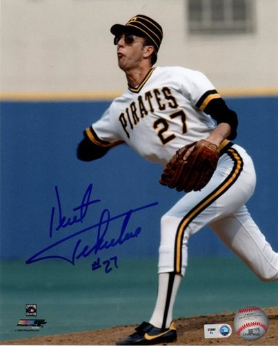 Photo of Kent Tekulve Autographed 8x10 - White Jersey