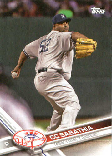 Photo of 2017 Yankees Topps #NYY10 CC Sabathia