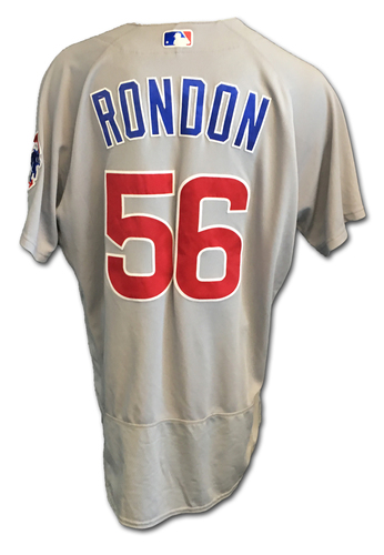Hector Rondon Game-Used Jersey -- Rondon 0.2 IP, 1 K -- Cubs Clinch 2017 NL Central Division -- Cubs at Cardinals -- 9/27/17