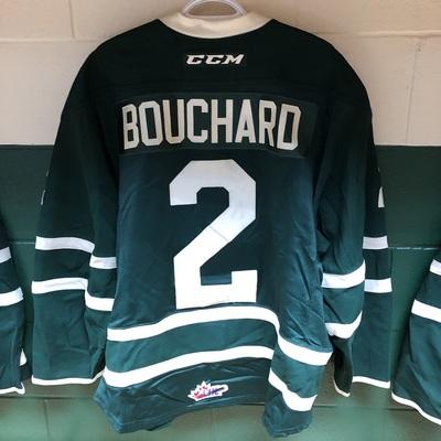 Evan Bouchard 2016-2017 Green Game Jersey