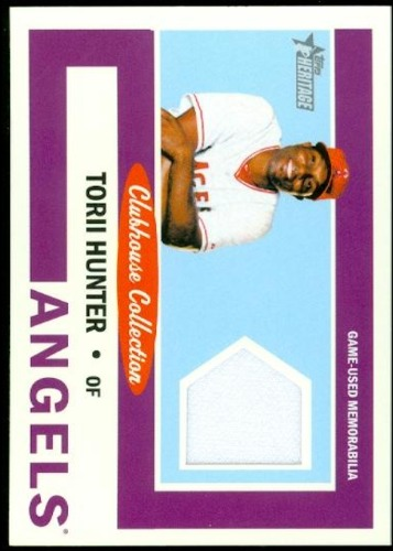 Photo of 2013 Topps Heritage Clubhouse Collection Relics #THU Torii Hunter