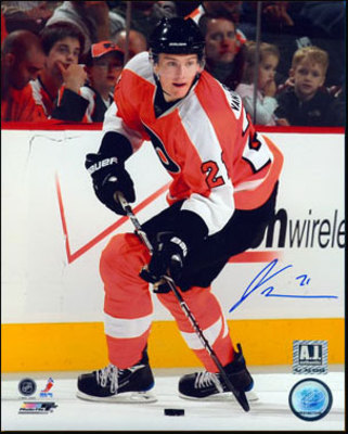 JAMES VAN RIEMSDYK Philadelphia Flyers SIGNED 8x10 Photo